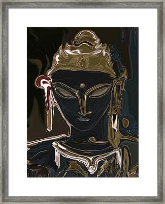 Portrait Of Vajrasattva Framed Print by Rabi Khan