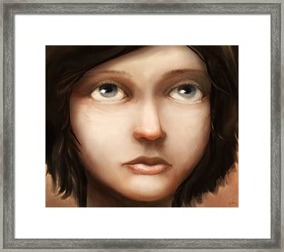Portrait Of Vela Framed Print by Ethan Harris