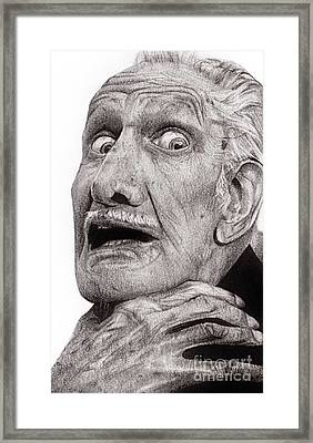 Portrait Of Vincent Price Framed Print by Carrie Jackson