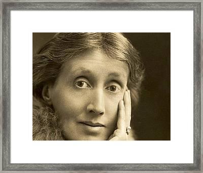 Portrait Of Virginia Woolf, 1927 Framed Print