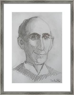 Portrait Of Wallace D. Wattles Framed Print by Tim Botta