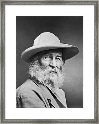 Portrait Of Walt Whitman Framed Print