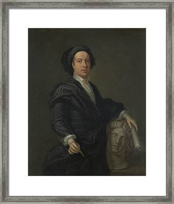 Portrait Of William Kent Framed Print by William Aikman
