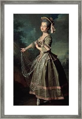 Portrait Of Yekaterina Nelidova Framed Print by Dmitri Grigor'evich Levitsky
