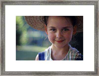 Portrait Of Young Girl Framed Print