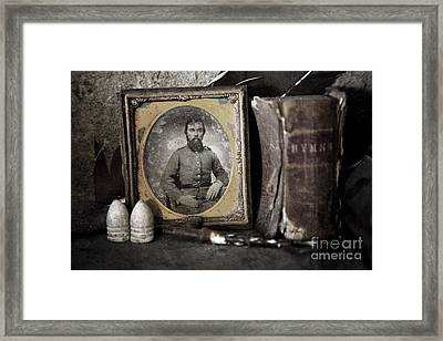 Portrait On The Mantle Framed Print by Pete Hellmann