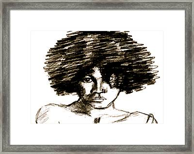 Portrait Or A Young Woman Framed Print by Dan Earle