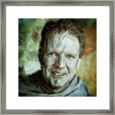 Portrait Painting Cinematographer Camera Operator Behind The Scenes Movie Tv Show Film Chicago Med Framed Print