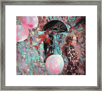 Portrait. Pink Dreams Framed Print by Anastasija Kraineva