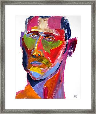Framed Print featuring the painting Portrait Prez by Shungaboy X