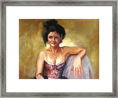 Portrait Sample Framed Print by Podi Lawrence
