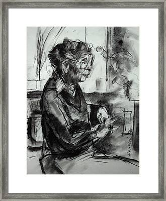 Framed Print featuring the drawing Portrait Sketch Of Euphemia Mcnaught by Tim  Heimdal