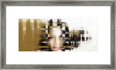 Portrait With Applied Ai  Framed Print by Steven Digman