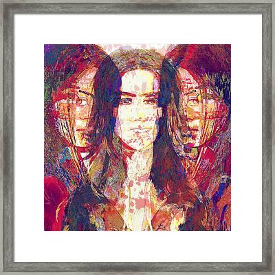 Portraits Of Girls Framed Print