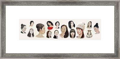 Portraits Of Lovely Asian Women II Framed Print by Jim Fitzpatrick