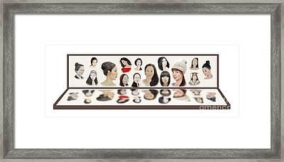 Portraits Of Lovely Asian Women  Framed Print