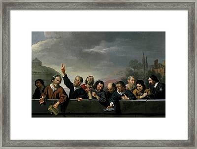 Portraits Of The Inhabitants Of St Jobsgasthuis In Utrecht Framed Print by Jan Van Bijlert