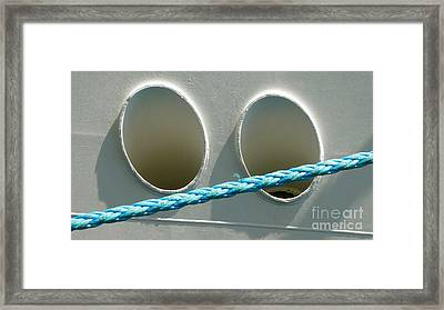 Portside - Ship And Rope Framed Print
