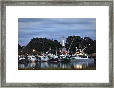 Portsmouth Fish Pier Framed Print