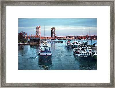 Portsmouth Fishing Boats Framed Print