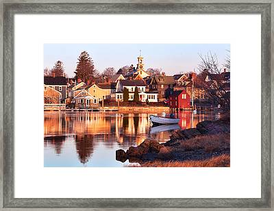 Portsmouth Golden Light Framed Print by Eric Gendron