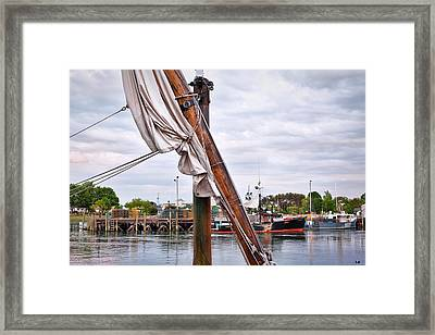 Portsmouth Gundalow Sail Framed Print