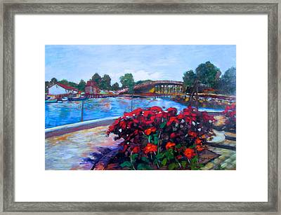 View From Prescott Park In Portsmouth Framed Print by Marilene Sawaf