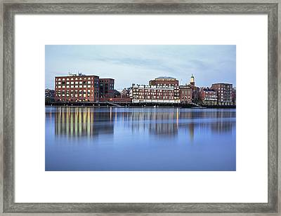 Portsmouth Harbor Reflections Framed Print by Eric Gendron