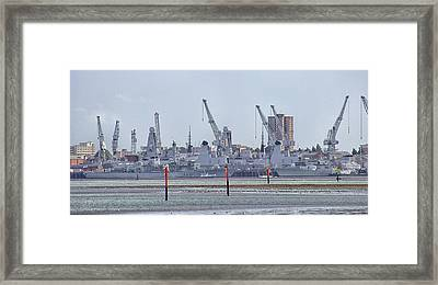 Portsmouth Navy Docks Framed Print