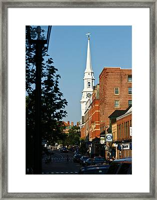Portsmouth Nh Downtown Framed Print