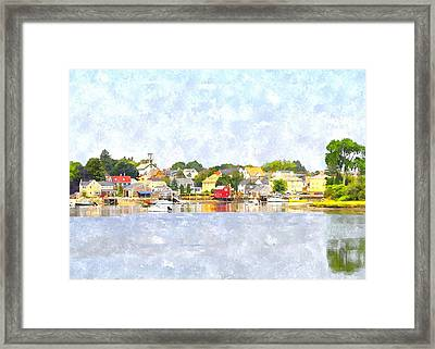 Portsmouth Nh South End Psewc Framed Print