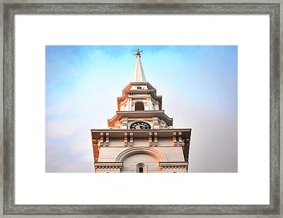 Portsmouth North Church Steeple Framed Print by Eric Gendron