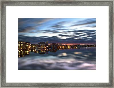 Portsmouth Reflections Framed Print by Eric Gendron