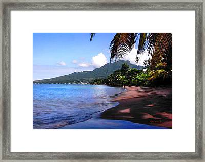 Portsmouth Shore On Dominica Filtered Framed Print