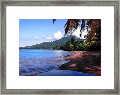 Portsmouth Shore On Dominica Filtered Framed Print