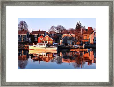 Portsmouth South End Sunrise Framed Print by Eric Gendron