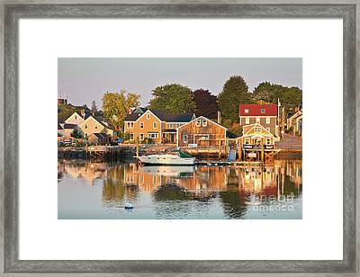 Portsmouth South End Waterfront Framed Print by Susan Cole Kelly
