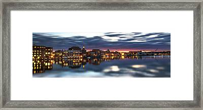 Portsmouth Waterfront Panorama Framed Print