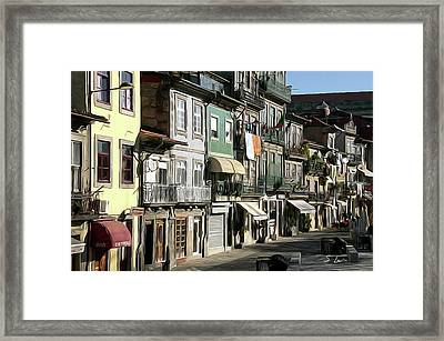Portugal Cityscapes Digital Painting Framed Print by S Art