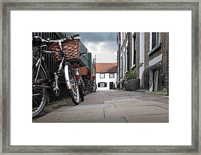 Framed Print featuring the photograph Portugal Place Cambridge by Gill Billington