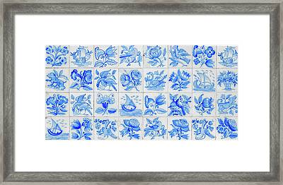 Portugal Typical Tiles Framed Print by Carlos Caetano