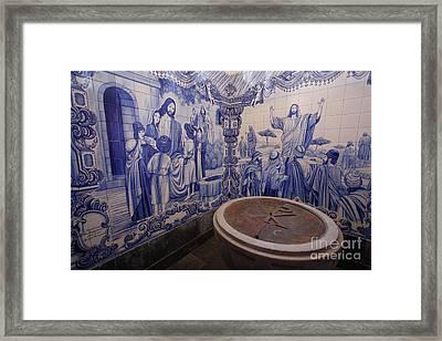 Portuguese Azulejo Mural Framed Print by Gaspar Avila