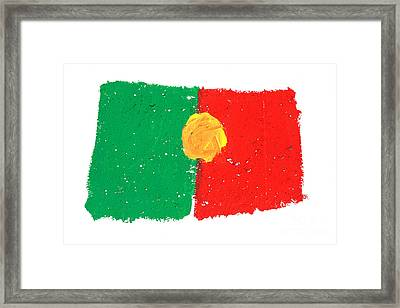 Portuguese Flag Framed Print by Gaspar Avila