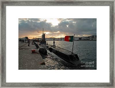 Portuguese Navy Submarine Framed Print by Gaspar Avila