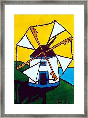 Portuguese Singing Windmill By Dora Hathazi Mendes Framed Print