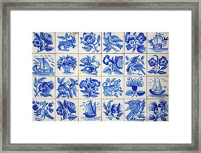 Portuguese Tiles Framed Print by Carlos Caetano