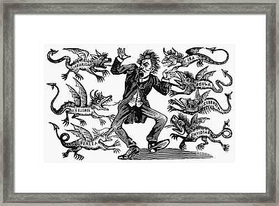 Posada: Seven Deadly Sins Framed Print by Granger