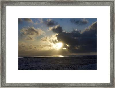 Poseidon Embellished By The Sun Framed Print by Silvia Bruno