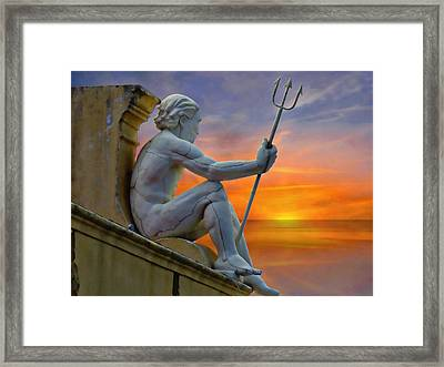 Poseidon - God Of The Sea Framed Print