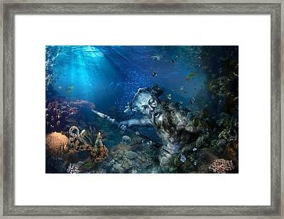 Poseidon Framed Print by Marc Huebner